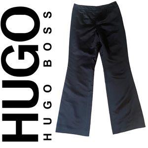 HUGO BOSS wide leg high waist 100% silk pants